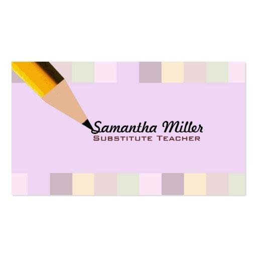 Substitute teacher business card templates page2 bizcardstudio substitute teacher business cards friedricerecipe Gallery