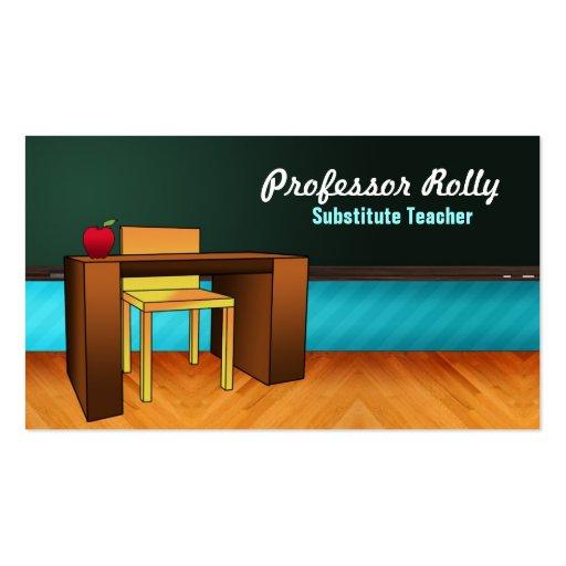 History teacher business card templates bizcardstudio substitute teacher business cards reheart Gallery