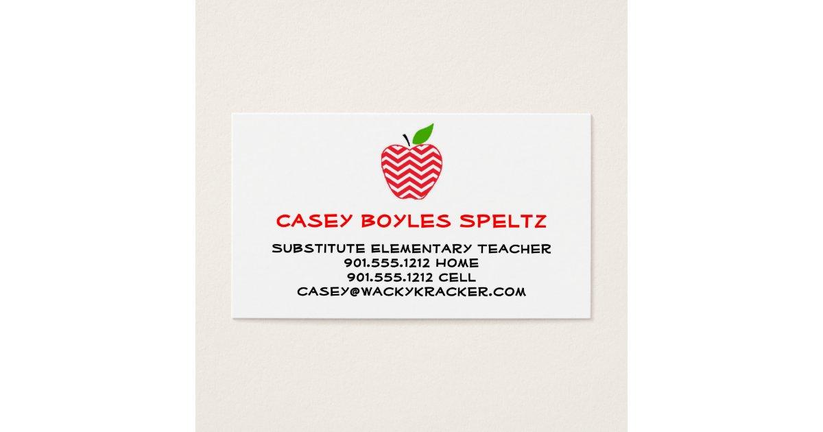 teacher business card education instructor