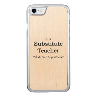 substitute Teacher Carved iPhone 7 Case