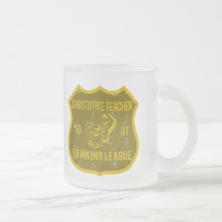 Substitute Teacher Drinking League Frosted Glass Coffee Mug