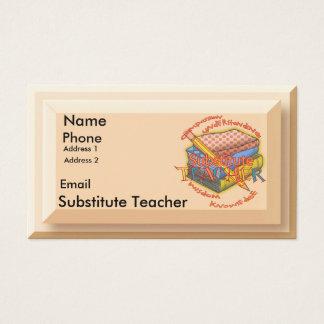 Substitute Teacher Motto Business Card