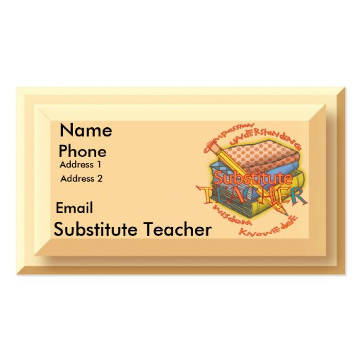 businessards for teachers templates averyard template wordhoice