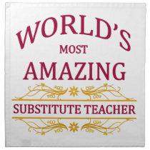 Substitute Teacher Napkin