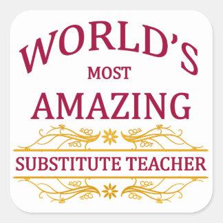Substitute Teacher Square Sticker