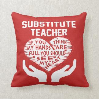 Substitute Teacher Throw Pillow