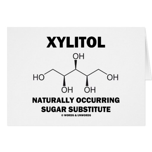 Substituto natural del azúcar del xilitol tarjeta