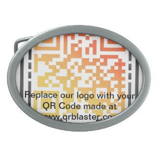 Substituya nuestro logotipo por su código de QR Hebillas De Cinturón