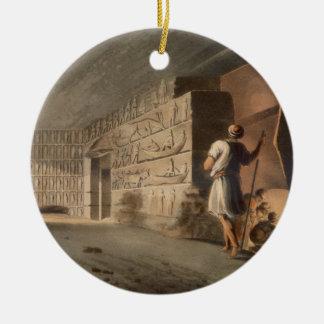 Subterranean Chamber near the Pyramids at Geeza, p Ceramic Ornament