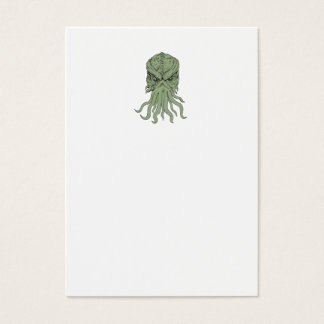 Subterranean Sea Monster Head Drawing Business Card