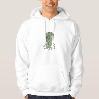 Subterranean Sea Monster Head Drawing Hoodie