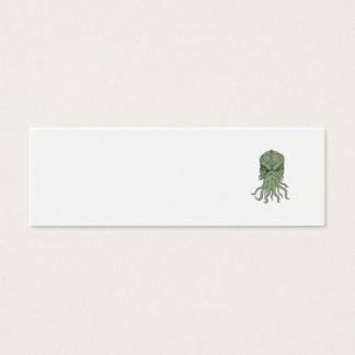 Subterranean Sea Monster Head Drawing Mini Business Card