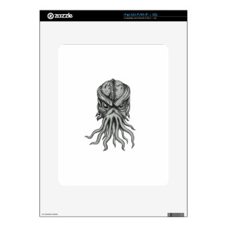 Subterranean Sea Monster Head Tattoo Decals For The iPad