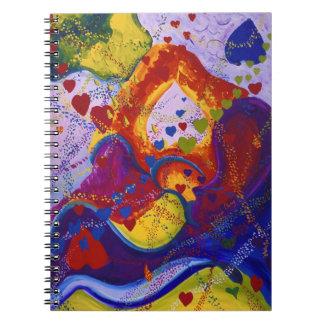 Subterráneo - corazones del carmesí y del iris libro de apuntes