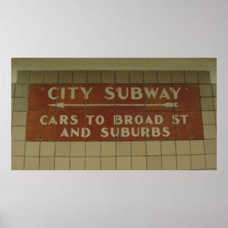 Subterráneo de la ciudad poster