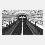 subterráneo del tren del metro de Washington de la