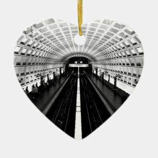 subterráneo del tren del metro de Washington de la Adorno De Cerámica En Forma De Corazón
