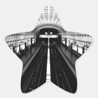 subterráneo del tren del metro de Washington de la Pegatina En Forma De Estrella