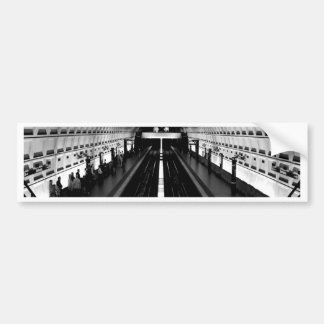 subterráneo del tren del metro de Washington de la Pegatina Para Auto