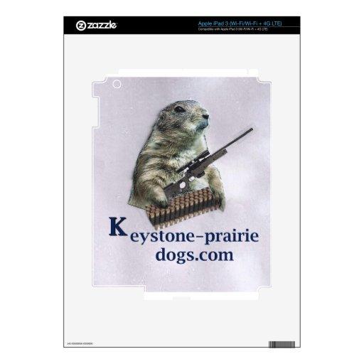 Subtítulo trapezoidal del rifle del perro de las p iPad 3 skin