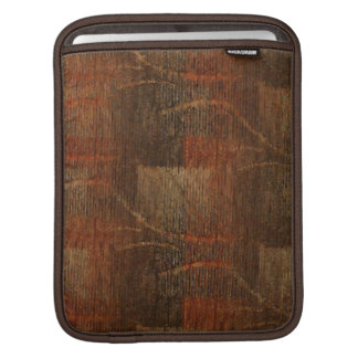 Subtle Abstract Pattern in Rust and Brown iPad Sleeves