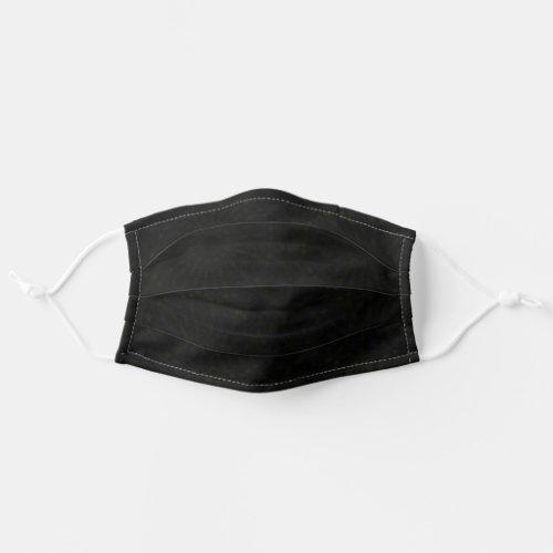 Subtle Black Grey Mens Cloth Face Mask Fabric