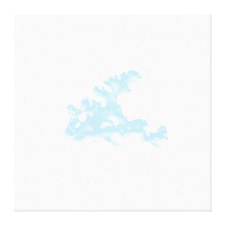 Subtle Blue Coral Wrapped Canvas Canvas Prints