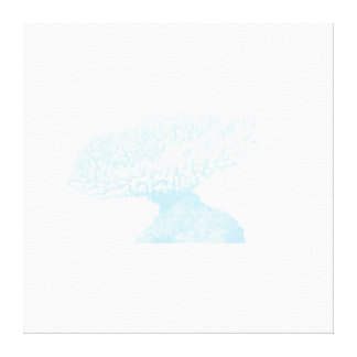 Subtle Blue Coral Wrapped Canvas Gallery Wrapped Canvas