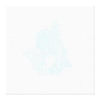 Subtle Blue Coral Wrapped Canvas Gallery Wrap Canvas