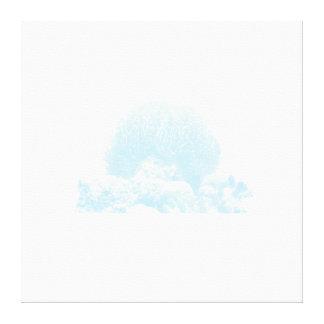 Subtle Blue Coral Wrapped Canvas Stretched Canvas Prints