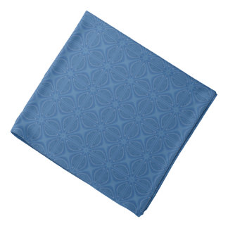 Subtle Blue Crisscross Geometric Pattern Bandana