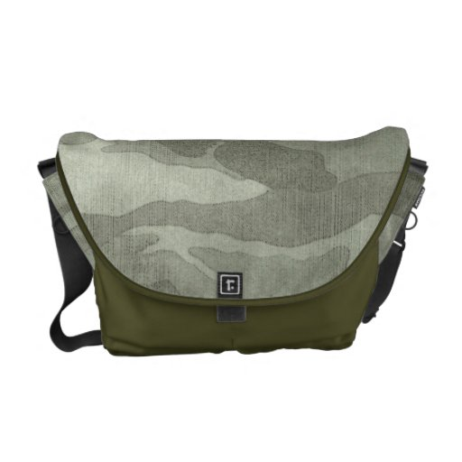 Subtle Camouflage Camo Khaki and Green Courier Bag