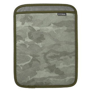 Subtle Camouflage Camo Khaki and Green Sleeve For iPads