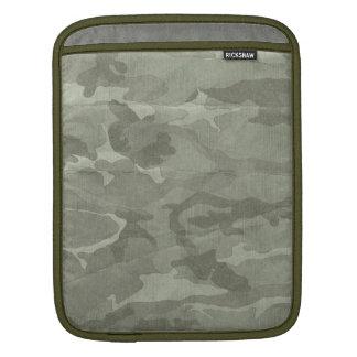 Subtle Camouflage Camo Khaki and Green iPad Sleeve