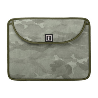 Subtle Camouflage Camo Khaki and Green Sleeves For MacBook Pro