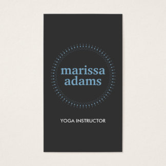 SUBTLE CIRCLE in BLUE/DK GRAY II Business Card