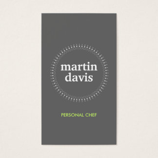 SUBTLE CIRCLE on GRAY Business Card
