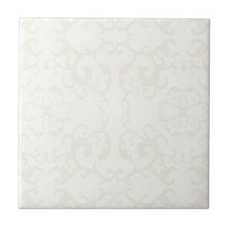 Subtle classic vintage pattern print -customise ceramic tiles