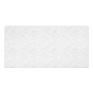 Subtle Damask Swirls Card