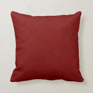 Subtle Dark Red Pattern Throw Pillow