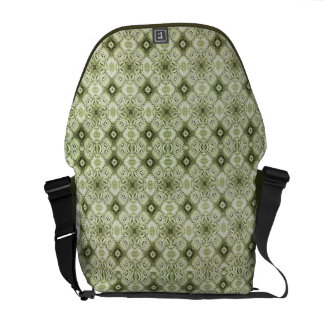 Subtle Decorative Pattern Rickshaw Messenger Bag