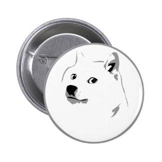 Subtle dogecoin pin badge