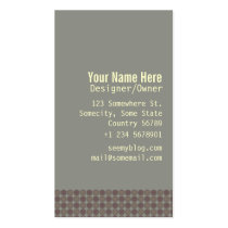 dots, modern, classic, desaturated, organic, business, circles, subtle, elegant, Business Card with custom graphic design
