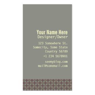 Subtle dots business card