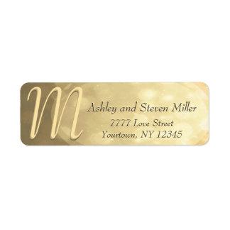 Subtle Gold Bokeh Monogram Label