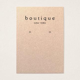 Subtle Gold Glitter  Earring Display Card