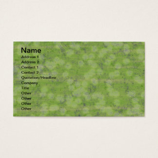 SUBTLE GREEN DESIGN BUSINESS CARD