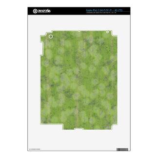 SUBTLE GREEN DESIGN iPad 3 DECALS