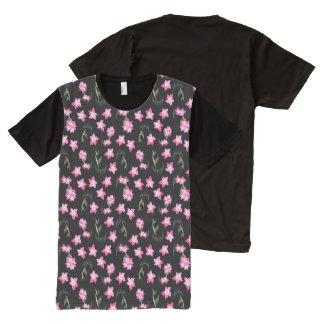 Subtle Laurels (Black) All-Over Print T-shirt