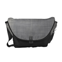 Subtle linen abstract pattern in grey messenger bag